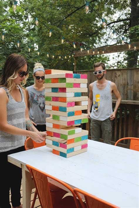 how to make backyard jenga giant jenga a beautiful mess
