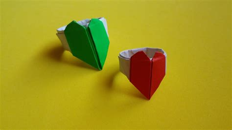 Easy Origami Ring - easy origami ring gift for s day thaitrick