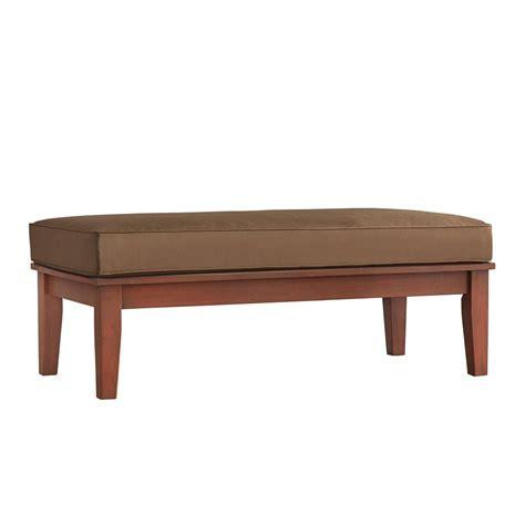 Cushion Coffee Table Homesullivan Verdon Gorge Brown Rectangular Wood Outdoor Coffee Table With Brown Cushion 40e011