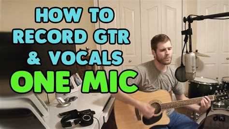 best to record professional microphone for recording guitar singing