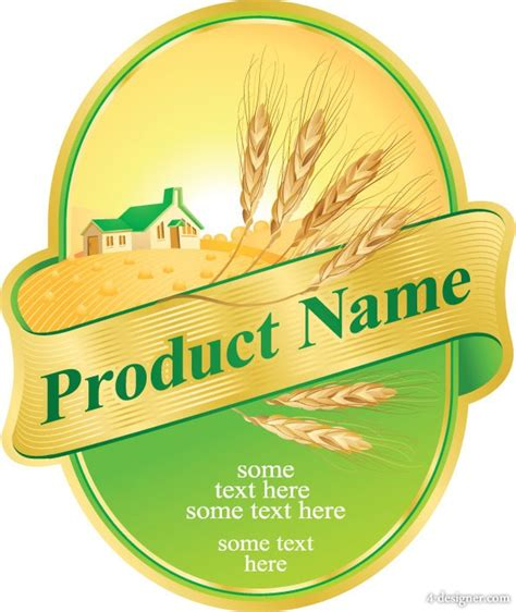 product label templates free 4 designer product label design 05 vector vector