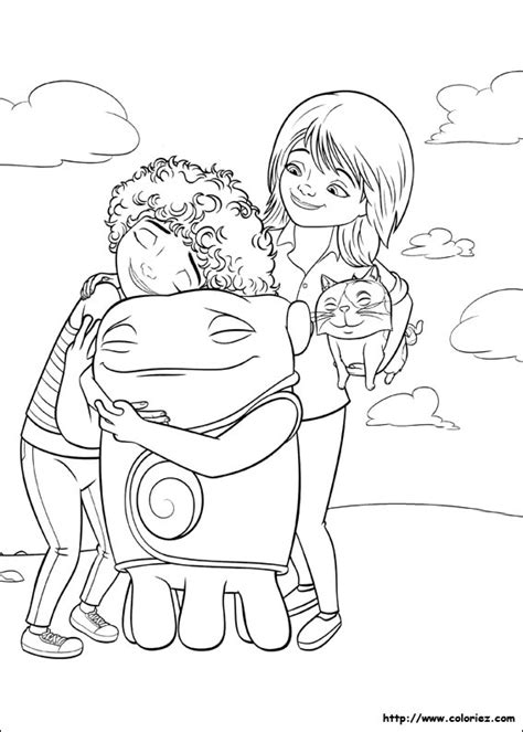 Free Coloring Pages Of Oh From Movie Home Home Coloring Page