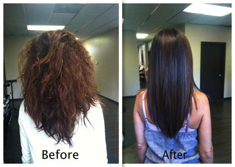 keratin straightening and short haircut keratin treatment for curly hair before and after om hair
