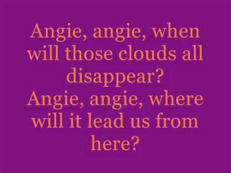 angie rolling stones testo angie rolling stones testo traduzione e