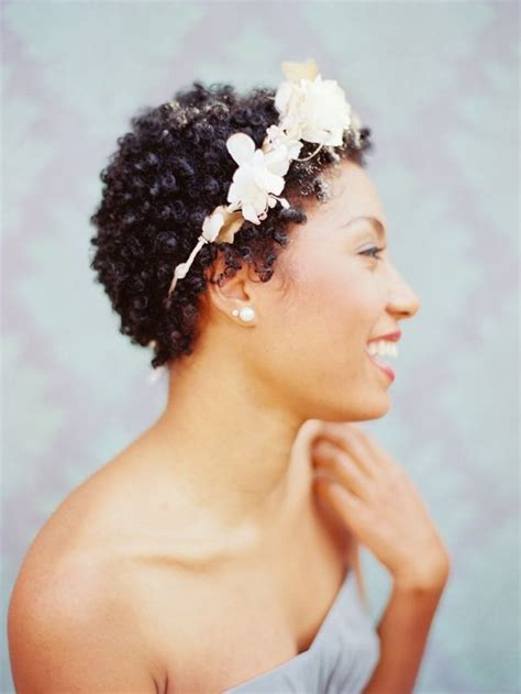 Twa Wedding Hairstyles | fall wedding hairstyles for short natural hair curls