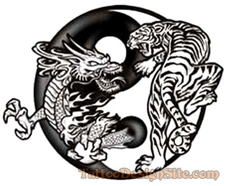 dragon and tiger tattoo designs free designs unique tattoos for and
