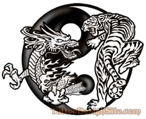dragon tiger tattoo