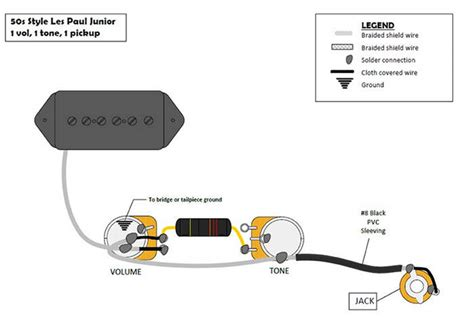 les paul junior humbucker wiring diagram 40 wiring