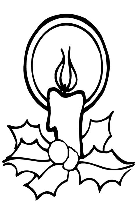 coloring page christmas candle coloring pages 2