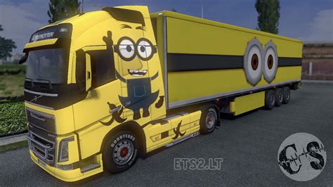 volvo trailer volvo fh 2012 and 2013 ohaha minion skin trailer ets