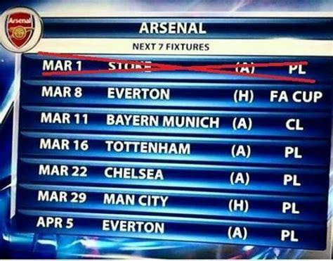 arsenal fixtures arsenal hard fixtures