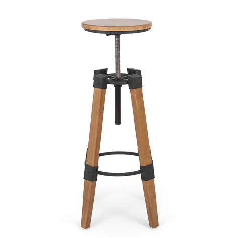 Vintage Industrial Adjustable Stool by Industrial Bar Stools Swivel Wood Vintage Adjustable