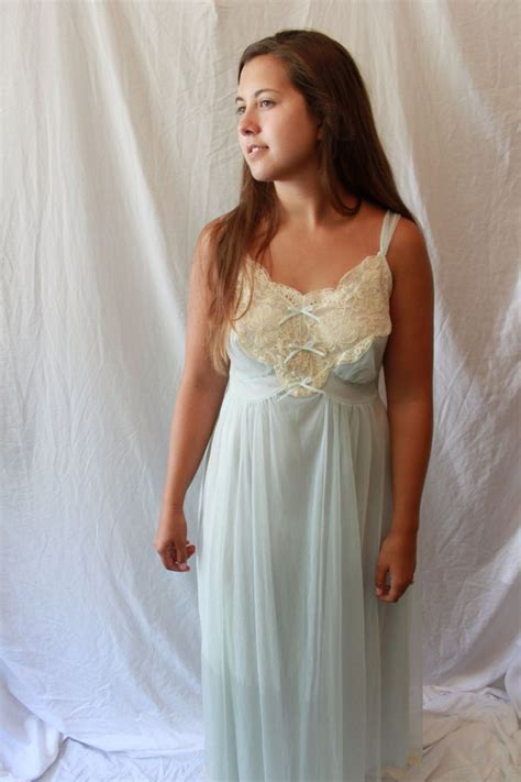Sheer Lace Nightdress vintage lace nightgown my gotham sheer nighty