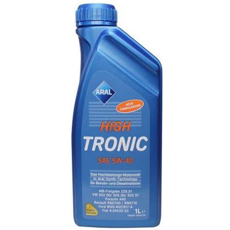 Aral High Tronic 5w 40 1 Liter 1 aral high tronic 5w 40 1l