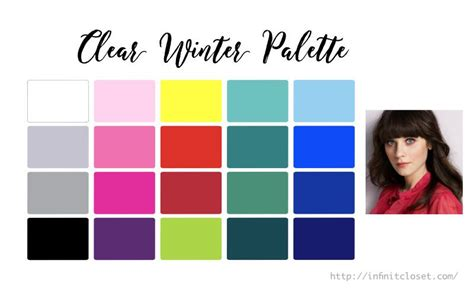 clear color clear winter palette bright winter clear cool