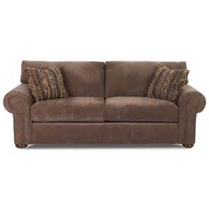 klaussner stationary sofa with nail trim efo