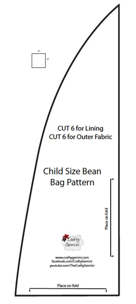 bean bag template child size bean bag chair diy tutorial crafty gemini