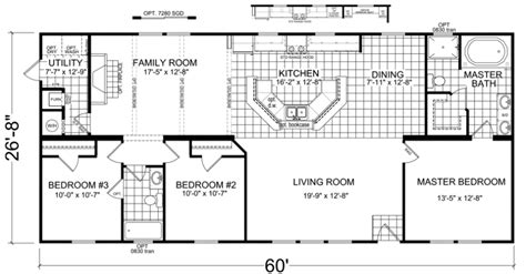 double wide floor plans nc skylar 28 x 60 1600 sqft mobile home factory expo home