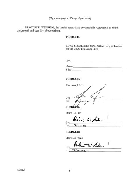 25 Images Of Agreement Signatures Template Leseriail Com Contract Signature Page Template