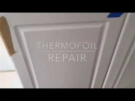 how to remove thermofoil from cabinet doors thermofoil thermofoil cabinet door repair youtube