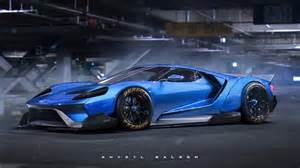 Ford Concept Rendering Liberty Walk Ford Gt Concept