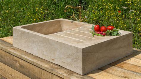 lavello travertino lavello in pietra per cucina rettangolare quot cubo quot il