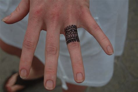 wedding ring tattoo to have and to hold wedding ring