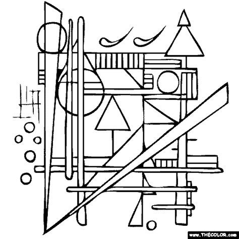 colouring book kandinsky prestel 3791337122 wassily kandinsky compositions coloring page a printables tutorals techniques and ideas