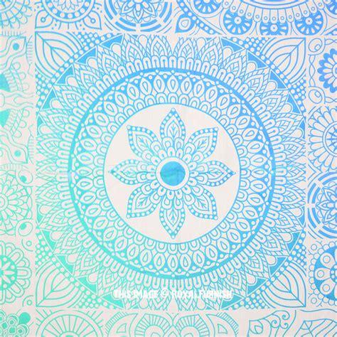 blue mandala pattern sea green blue mandala pattern prisma tapestry bedspread