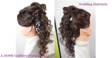 Coiffure Boucl 233 E Quot Mariage Quot Quot Wedding Quot Curled Hairstyle