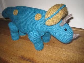 knitted dinosaurs tina barrett ravelry triceratops pattern by tina barrett