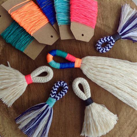diy tassels diy tassel kit make your own large or mini tassels