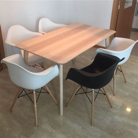 Price Of Dining Table Low Price Dining Table And Chairs Home Furniture On Carousell
