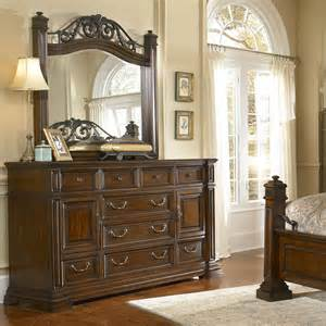 regency bedroom furniture progressive furniture p166 regency dresser and mirror set