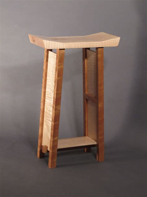 bar stools modern zen wood bar narrow saddle by