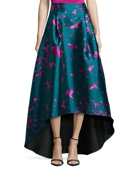 sachin babi bird print high low skirt in blue lyst