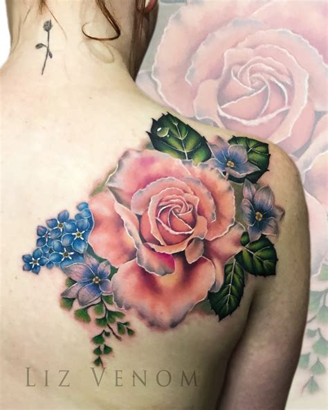 antique rose tattoo lizvenom liz venom deviantart