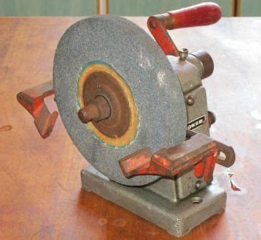 knife sharpening bench grinder vintage industrial hand crank bench grinder knife
