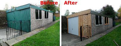 asbestos garage roof replacement leeds grimston garage refurbishment halifax