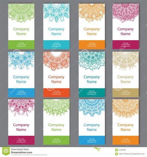 set of six business cards set of six business cards vintage pattern in retro style with mandala islam arabic