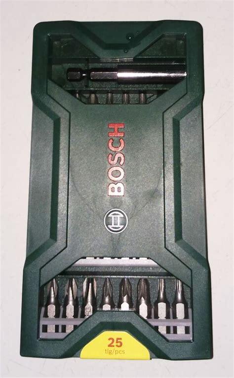 Mata Obeng Variasi Bosch X Line 25 Screwdriver Bits Set jual bosch x line 25 pcs mata obeng set tech