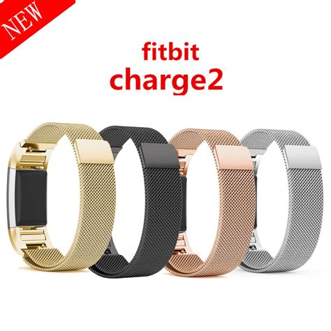 Milanese Stainless Steel Magnetic For Fitbit Charge 2 magnetic milanese loop band for fitbit charge 2 smart bracelet high quality stainless steel