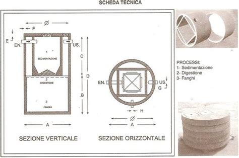 scheda tecnica vasca imhoff fosse biologiche tipo imhoff in cemento manufatti in