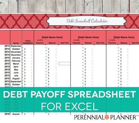 excel template to payoff credit cards 356 best images about excel spreadsheet on