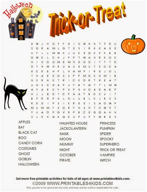 free halloween printable word games free halloween word search for kids