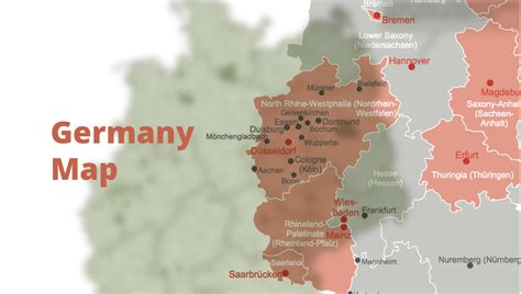 map of germany with cities and states map of germany hesse state how to create a map of