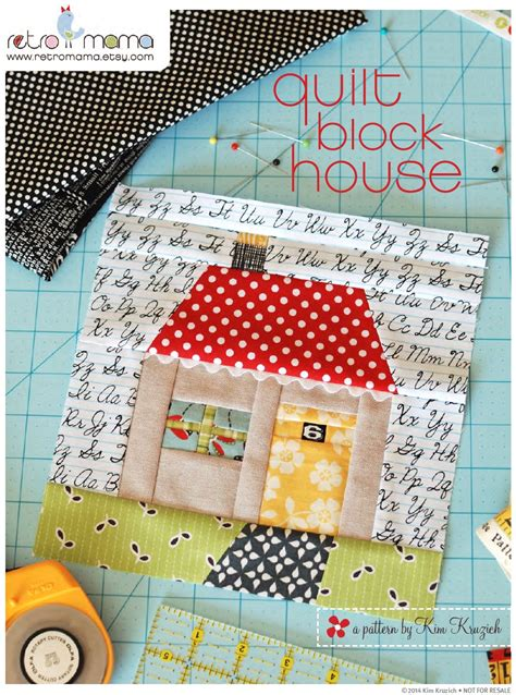 house patterns quilt block house patchwork pdf sewing pattern