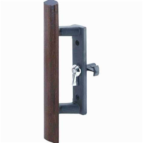 Sliding Glass Door Pull Everbilt 4 7 8 In Black Light Duty Door Pull 15447 The Home Depot