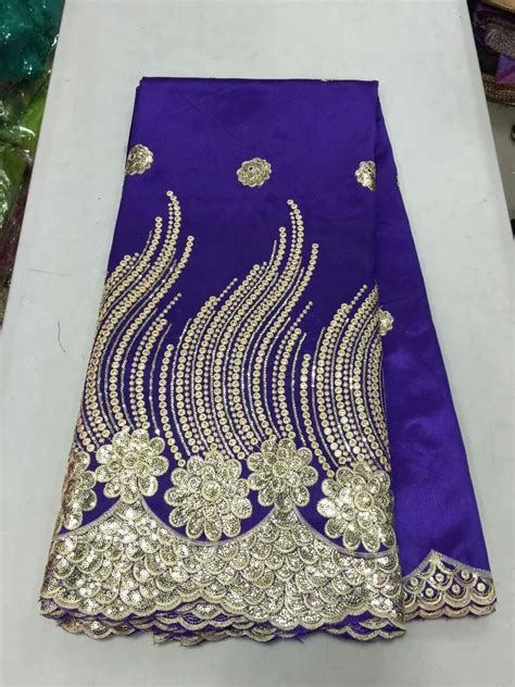 blue and gold african lace high quality african plain george lace fabric in royal