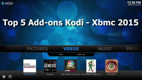 tutorial video xbmc top 5 add ons kodi xbmc 2015 download and how to install